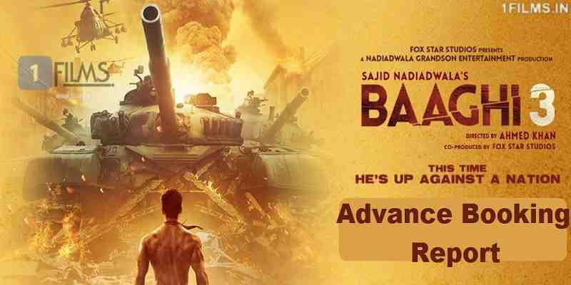 Baaghi 3 Advance Booking Report Poster