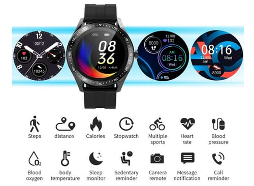 GARINEMAX 1.3 Inch HD color touch screen smart watch