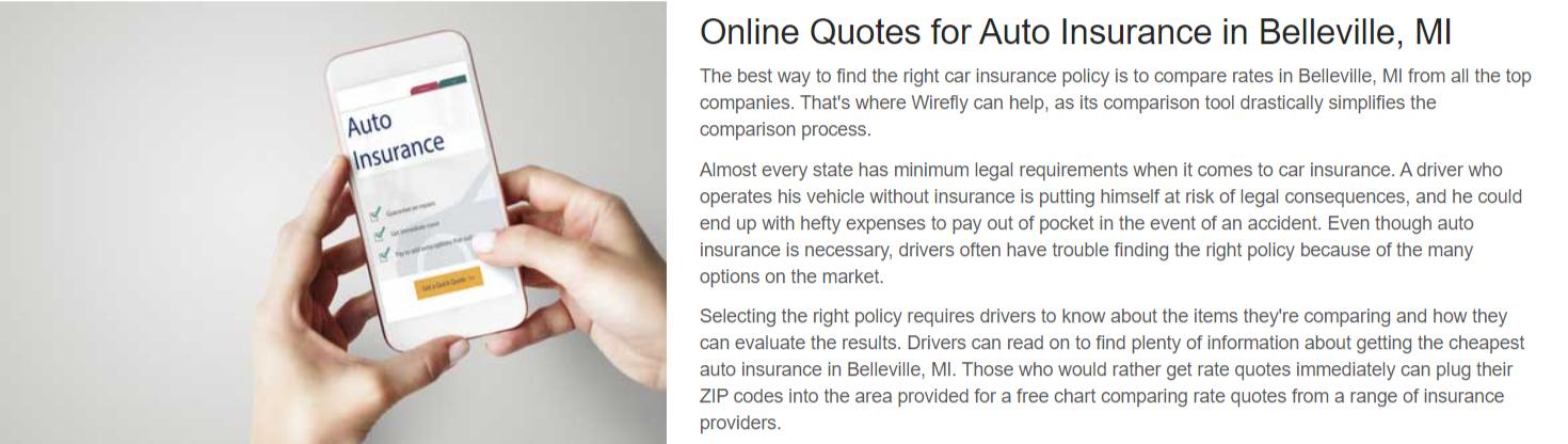 Cheap Car Insurance in Belleville Michigan