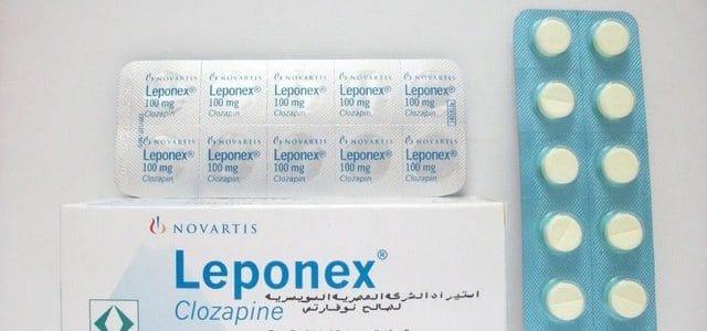 سعر ودواعي إستعمال دواء ليبونكس Leponex أقراص مضاده للزهان