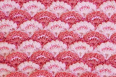 3 - Crochet Imagen Puntada a crochet de abanicos a relieve por Majovel Crochet