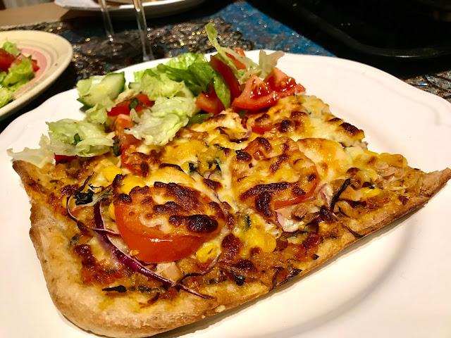 Rye sourdough pizza base