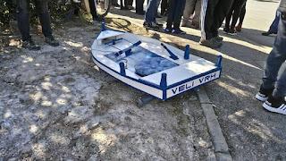 Tradizionale gara di carrozze con le ruote di acciaio ai cuscinetti a sfera, tenutasi a Pola il 17 febbraio 2019.