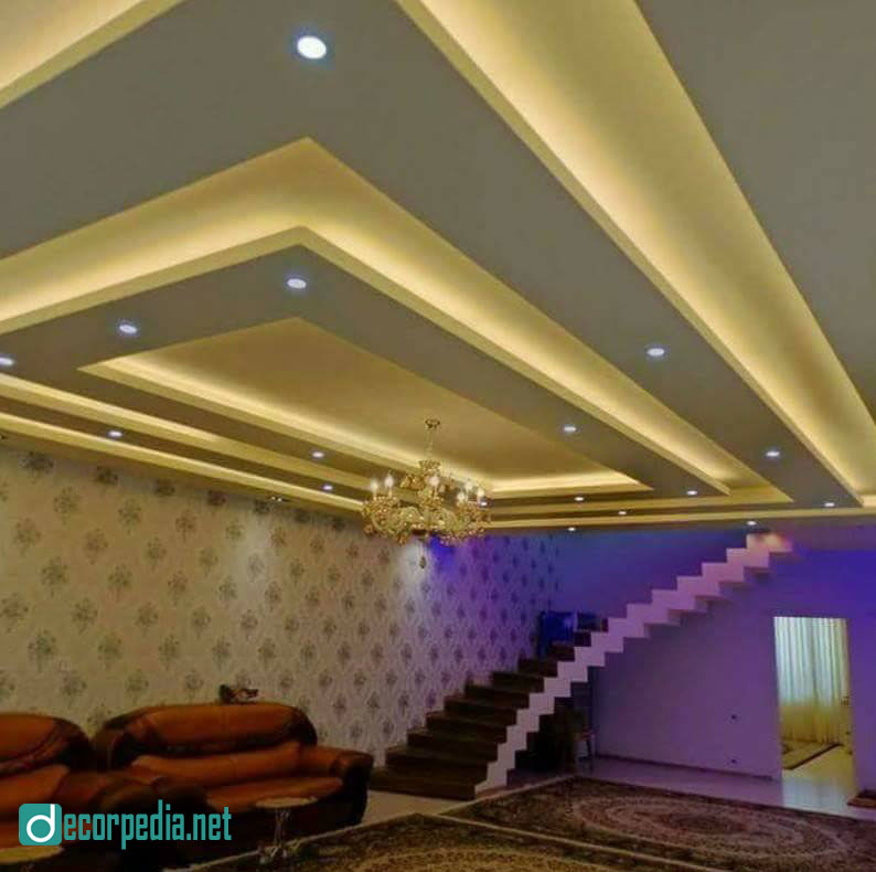 Latest false ceiling design ideas for modern room 2019 - Latest ceiling design for living room ...