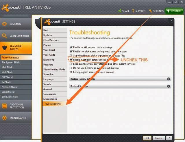 Solusi menghapus Avast! secara bersih | Solusi Masalah Komputer