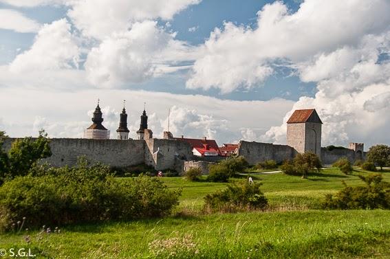 Muralla de la ciudad de Visby en Gotland