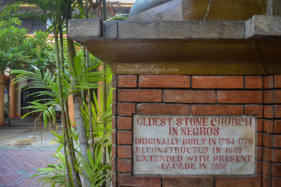Inscription about Dumaguete Cathedral plastered at its wall