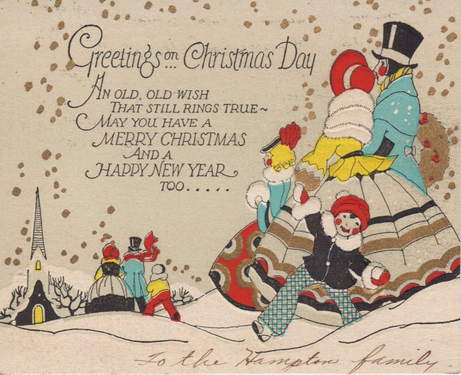 Bloody Pit of Rod: Art Deco Christmas Cards