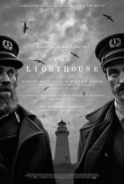 "A24 presents the movie poster for ""The Lighthouse"" (2019), starring Willem Dafoe and Robert Pattinson"