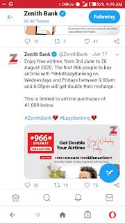 Zenith bank account 100% bonus nairavilla