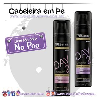 Shampoos a Seco (Original e 2 em 1) Day 2 - Tresemmé (No Poo)