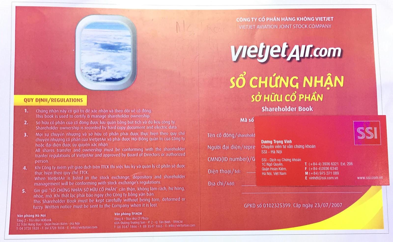 Hỗ trợ lưu ký chứng khoán nhiệt tình và chu đáo nhất, Lưu ký chứng khoán, Hướng dẫn lưu ký chứng khoán, Vietjet Air