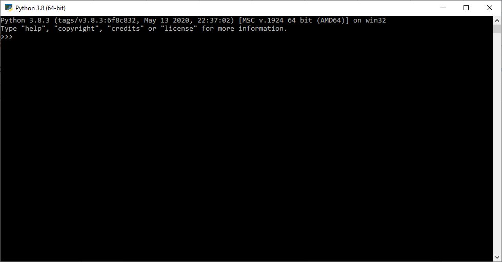 Python command prompt window