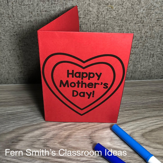 Click Here For These Mother's Day Coloring Pages and New Mother's Day Crafts and Cards!