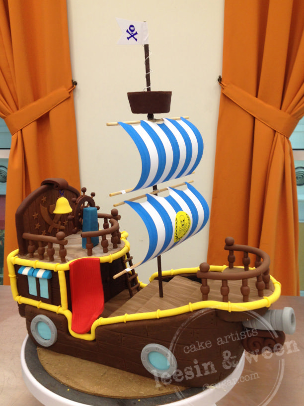Jake Pirate Ship Birthday Cake