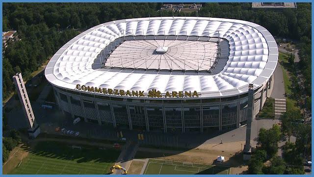 10 Jahre merzbank Arena from Commerzbank arena draußen
