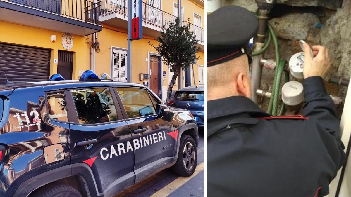 Pedara Carabinieri allaccio abusivo