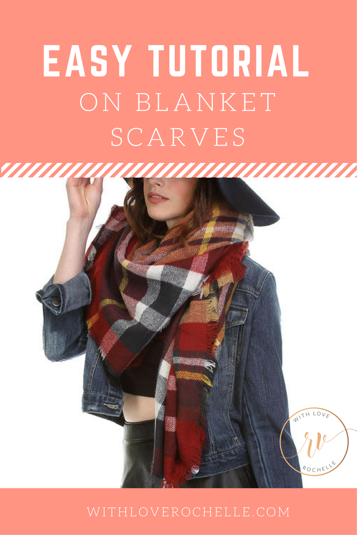 Easy Tutorial on How to Wear a Blanket Scarf.  Video Tutorial
