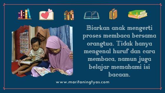 biarkan anak mengerti proses membaca