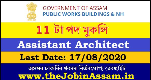 APSC Recruitment 2020: Apply For 11 Assistant Architect Posts Architect under Public Works (Building & NH) Department.