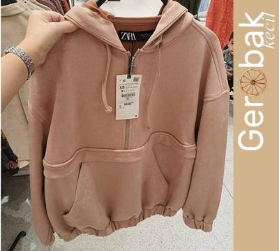 Jual ZARA Hoodie / sweater wanita / Jaket Wanita / Baju Atasan / Pakaian Terlaris