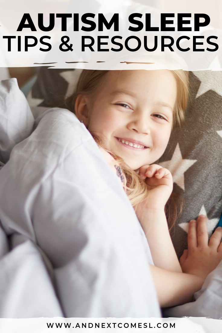 Autism and sleep: common issues and problems, as well as strategies and advice to help your autistic child sleep, plus free printable resources to help establish a bedtime routine