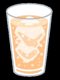 炭酸飲料のイラスト(オレンジ)