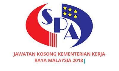 Jawatan Kosong Kementerian Kerja Raya Malaysia 2018