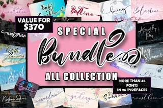 Special Bundle All Fonts Collection