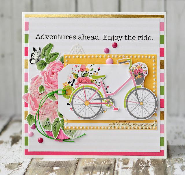 adventures ahead | Eyelet Outlet DT @akonitt #card #by_marina_gridasova #eyeletoutlet #dcwv #hellodarlin #enameldots