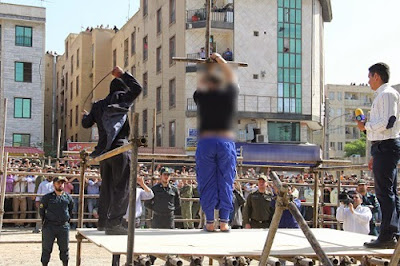 Medieval and barbaric punishments: Public flogging in Karaj, Iran, May 2015