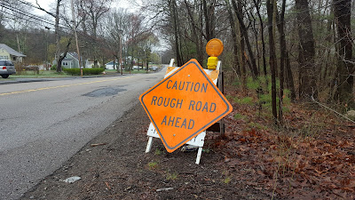 road sign on Pleasant St is rather appropriate for this posting, the financial plan contains many hazards