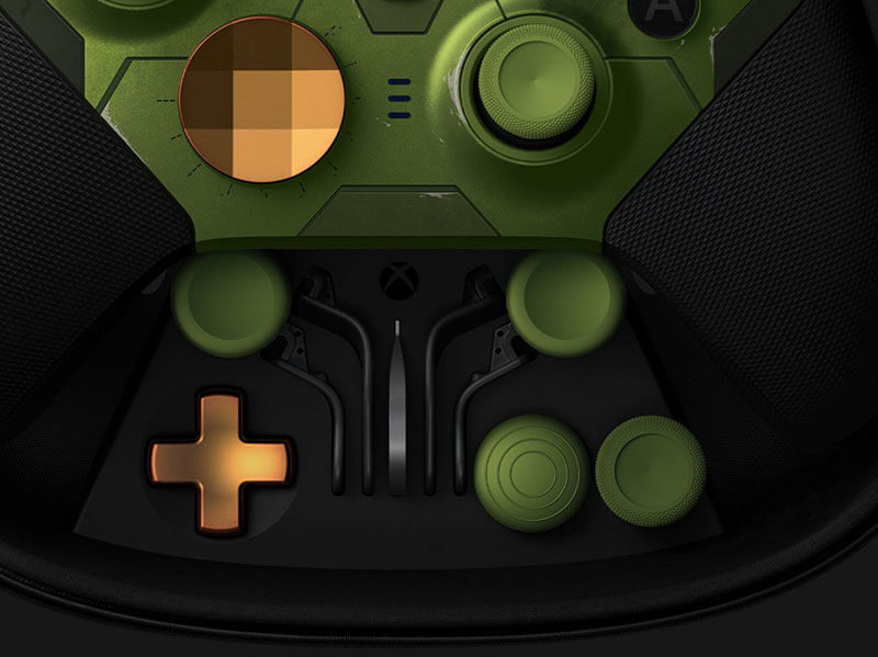 Customizable D-pad and thumbsticks