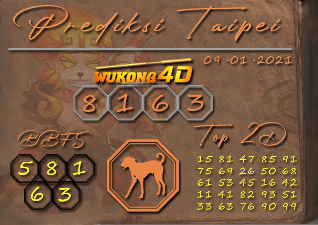 PREDIKSI TOGEL TAIPEI WUKONG4D 09 JANUARY 2020