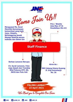 Lowongan Kerja JNE Kupang Sebagai Staff Finance