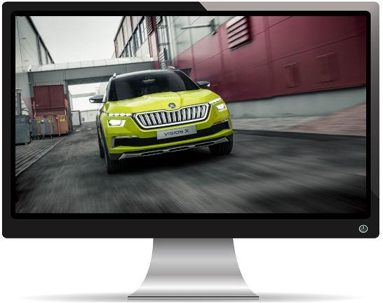 Skoda Vision X Jaune - Fond d'écran en Full HD 1080p