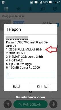 Paket Tri 23GB Full Mulai 30 Ribu