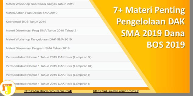 7+ Materi Penting Pengelolaan DAK SMA 2019 Dana BOS 2019