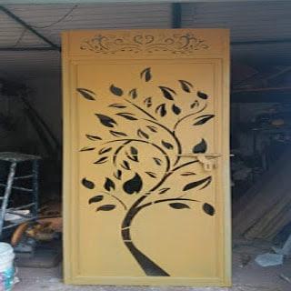 Jasa Pembuatan Pintu Besi Perforated