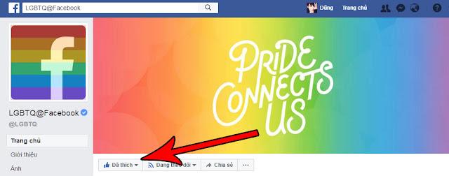 thêm nút cảm xúc tự hào cho facebook