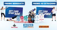 Logo Sauber ''Get Ready for Sport'' e vinci 100 GiftCard da 50€ e 10 da 200€ Decathlon , Ginova, Foot Loacker e