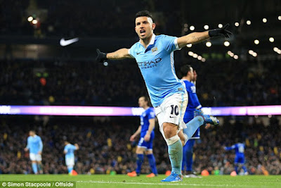 SERGIO AGUERO + CELEBRATING