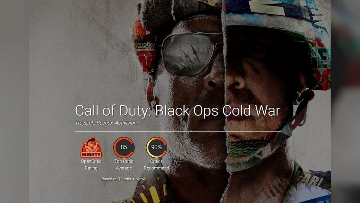 Call of Duty: Black Ops Cold War is hailed by critics