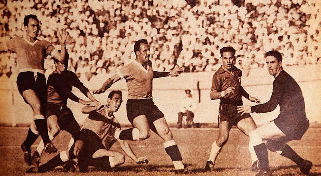 Chile y Uruguay en Campeonato Sudamericano de 1955