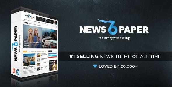 Download Free Newspaper v6.7.2 - Premium Responsive WordPress Theme ...
