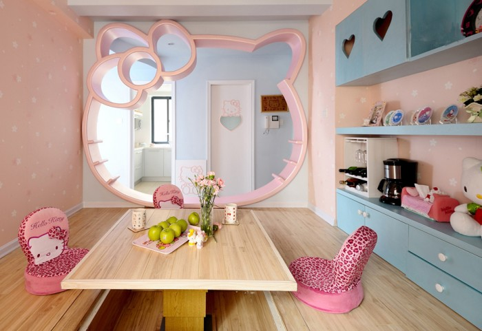 Hogares frescos 100 dise os de habitaciones para ni as for Cuartos decorados kawaii