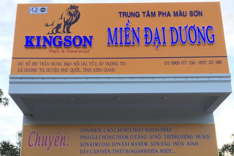 Thi công bảng hiệu quảng cáo Miền Đại Dương- Phú Quốc