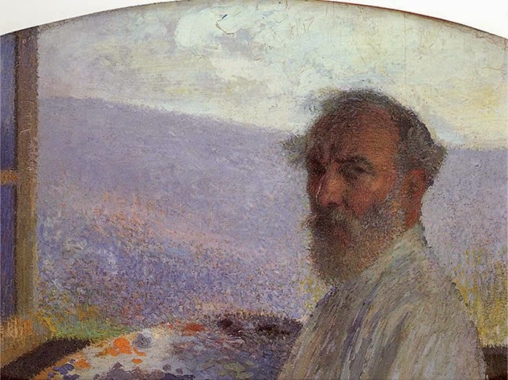 Henri Jean Guillaume Martin, Self Portrait, Portraits of Painters, Fine arts, Painter Henri Jean Guillaume Martin