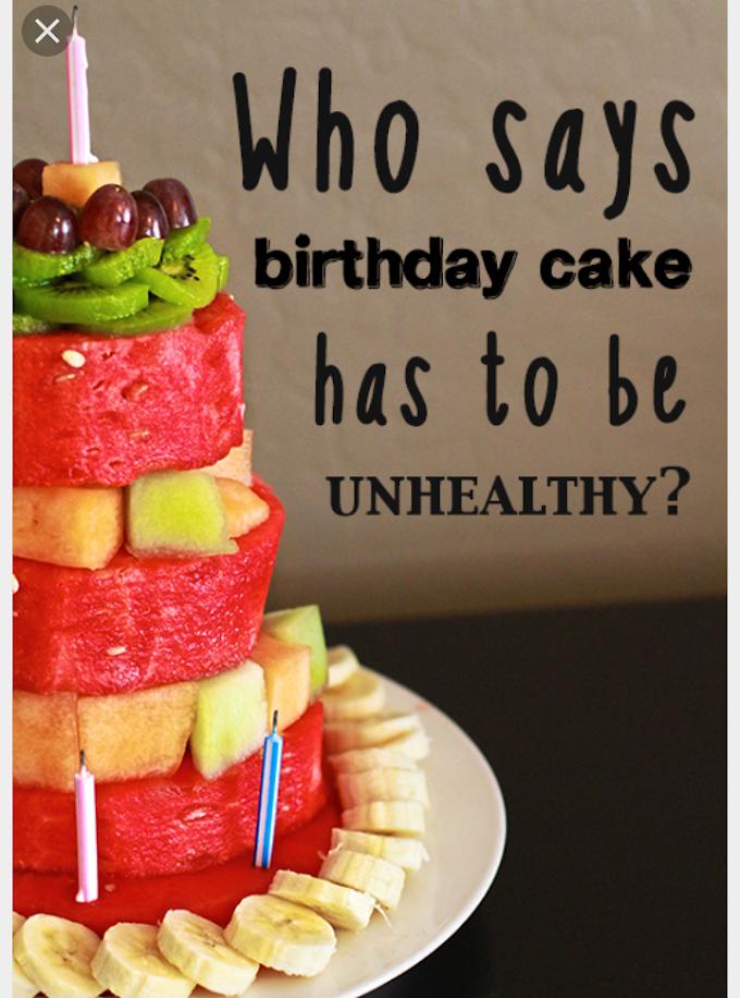 Idea jadikan buahan untuk kek birthday