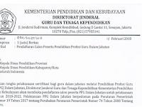 Pendaftaran Calon Peserta PPG Dalam Jabatan 2018-2022